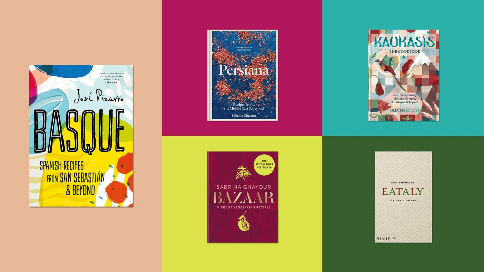 Some of our favourite cookbooks, from Basque by José Pizarro to Kaukasis by Olia Hercules.