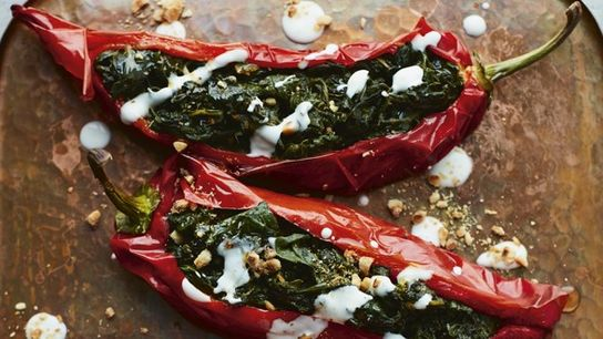 How to make it: Nargisse Benkabbou's bakoula-stuffed Romano peppers recipe