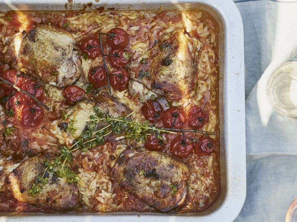 How to make it: Georgina Hayden's chicken, cinnamon and sweet tomato orzo