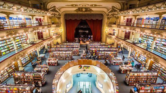 Find the historic bookshop Ateneo Grand Splendid tucked away in the Recoleta neighbourhood of Buenos Aires, ...
