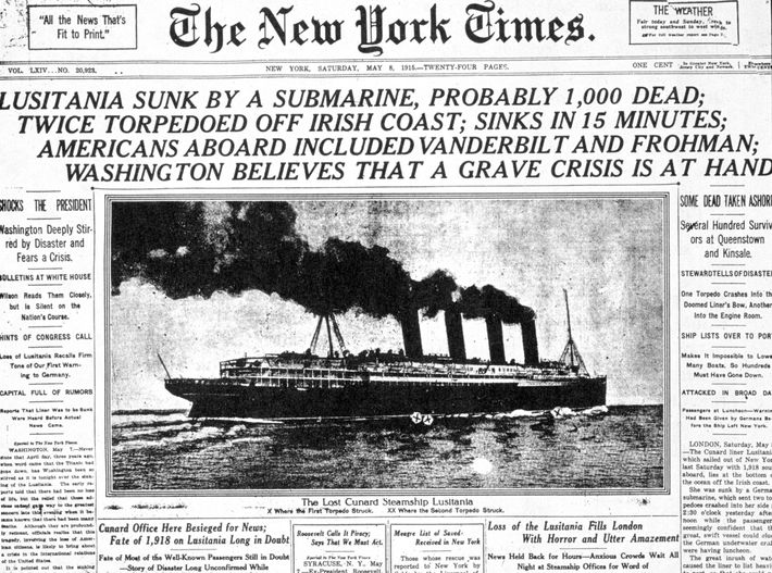 The tragedy, in which 128 Americans died, took over the front page of the New York ...
