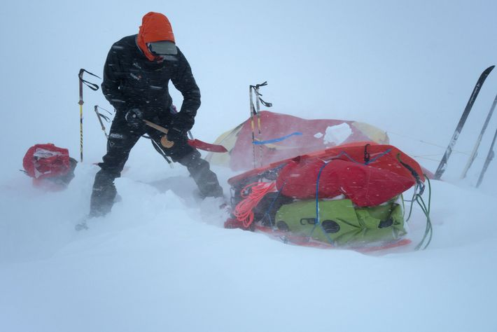 Weather was a constant challenge while the team was in Alaska, where they sometimes faced hip-deep ...