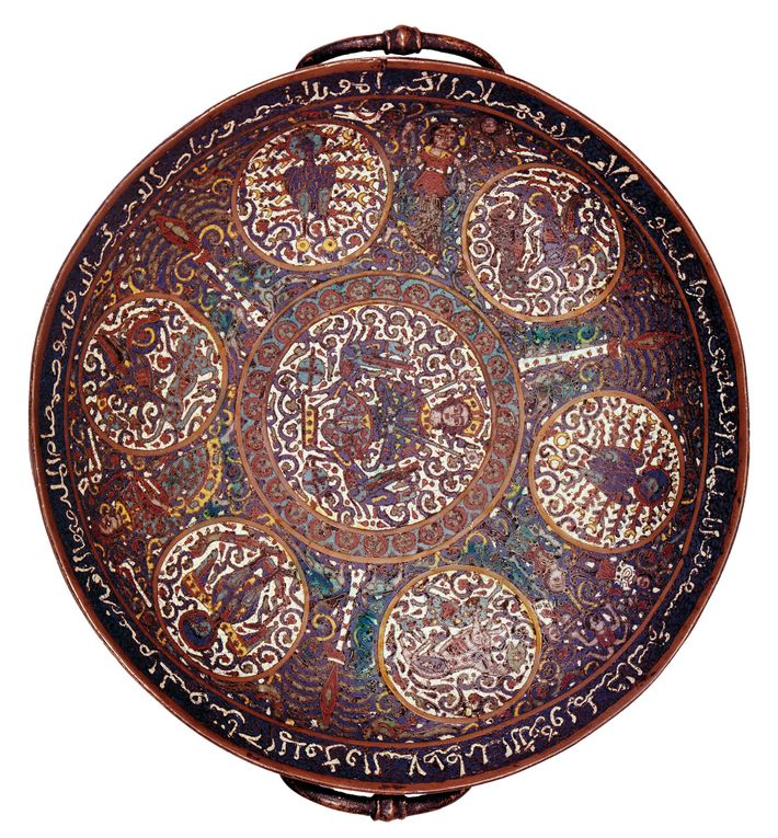 A bowl made during the Artuqid Dynasty in the late 12th century.