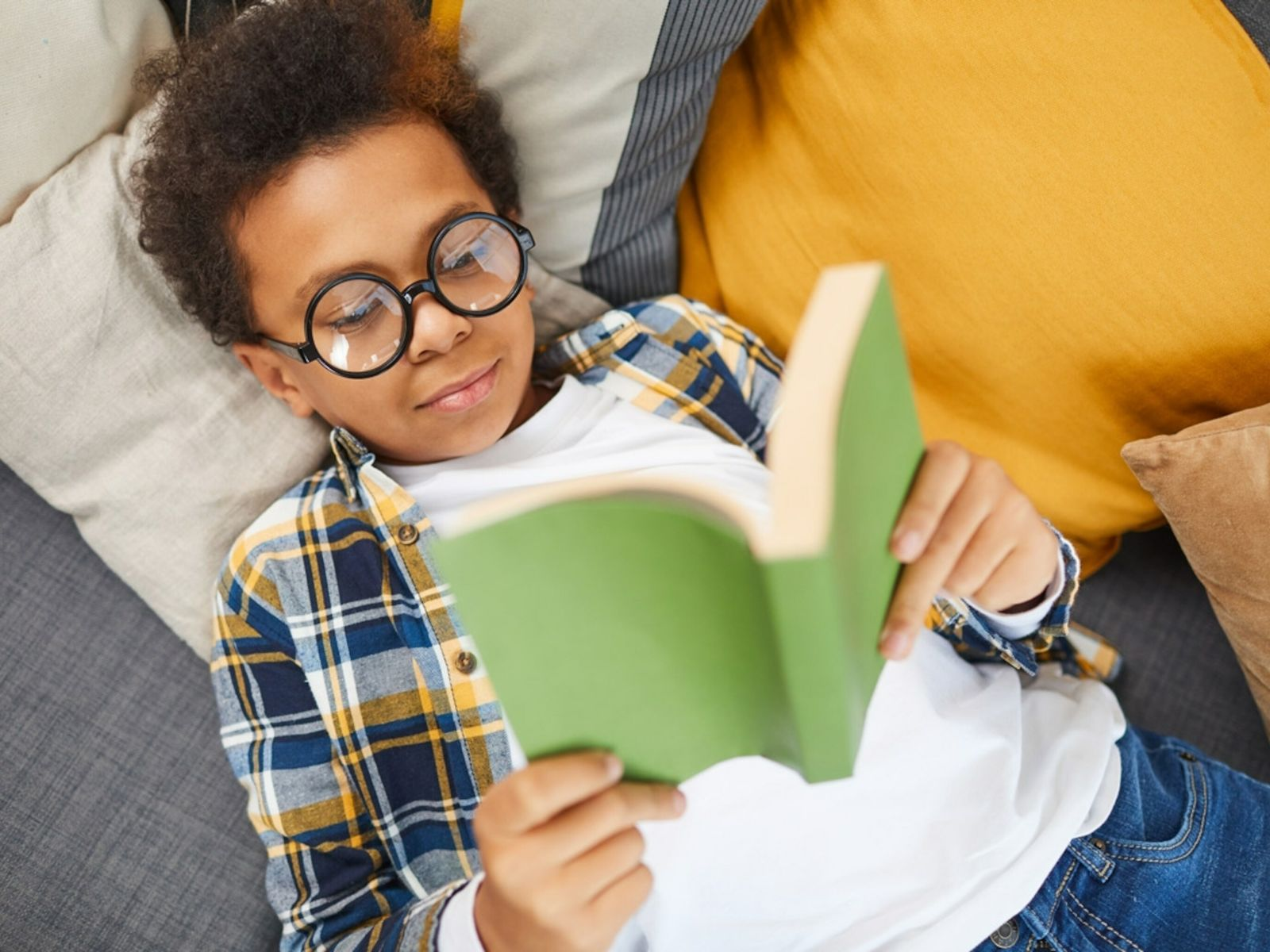 Boy Reading Book - Reading Therapy During Pandemic