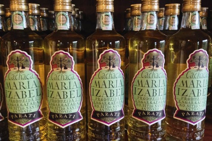 Bottles of Cachaça Maria Izabel.