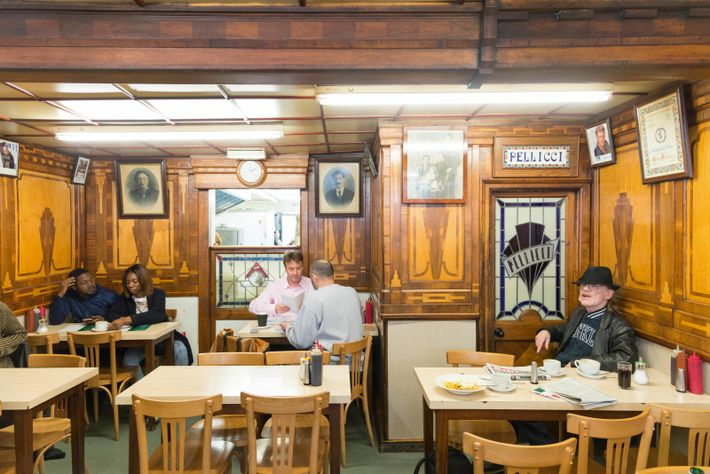 E Pellicci on London's Bethnal Green Road is considered alocal institution.
