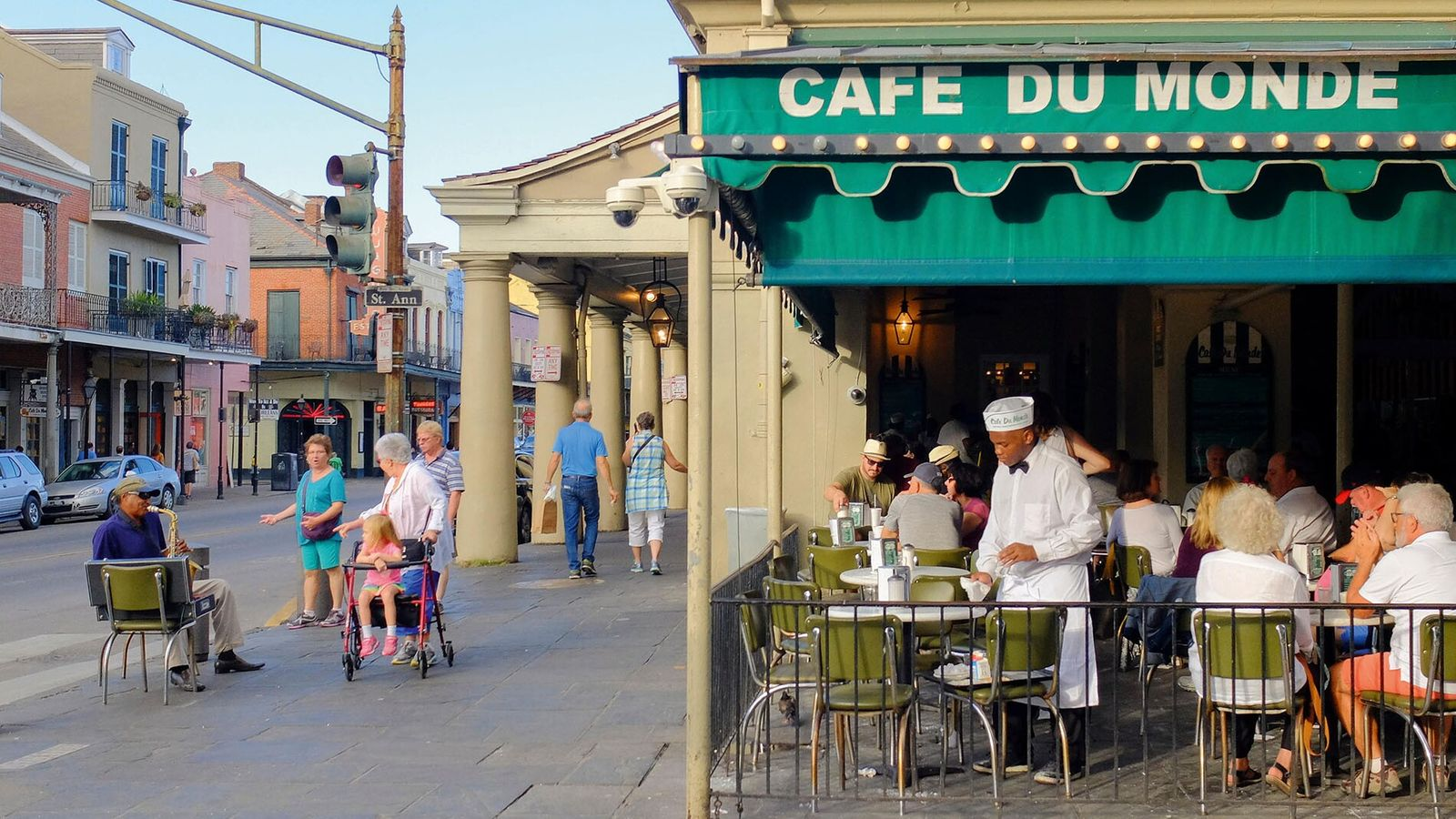 New Orlean's Cafe du Monde is renowned for its chicory coffee and beignets.