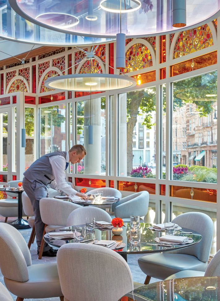 For a premium eggs royale served with champagne, try Jean-Georges at London's The Connaught.