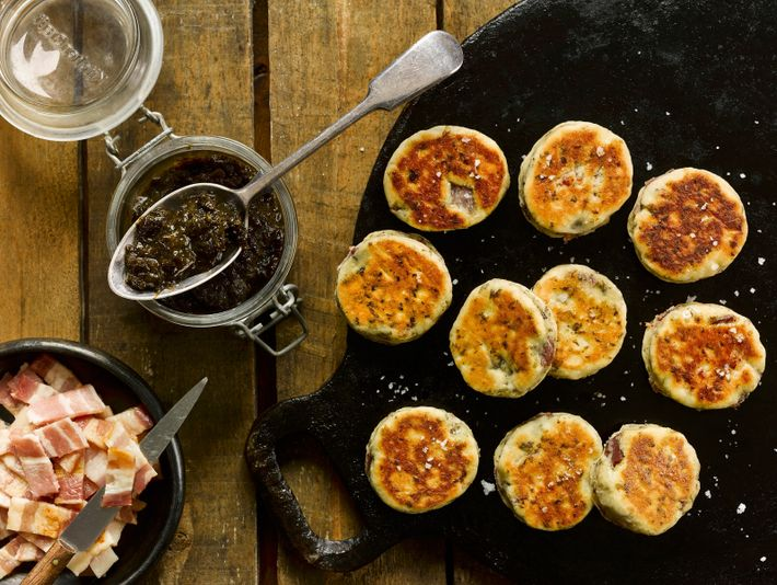 Laverbread with bacon Welsh cakes.Laver, a type of seaweed, has been eaten by coastal communities for ...