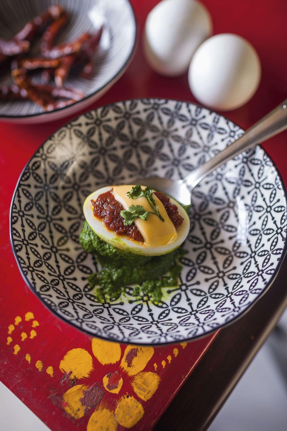 Eggs Kayasth (recipe overleaf)