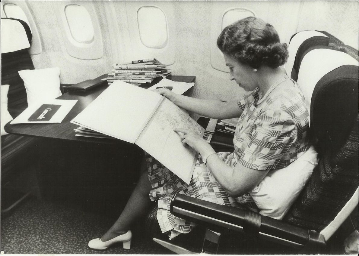 Queen Elizabeth II first flew on Concorde in 1977. The aircraft was notoriously costly with a ...