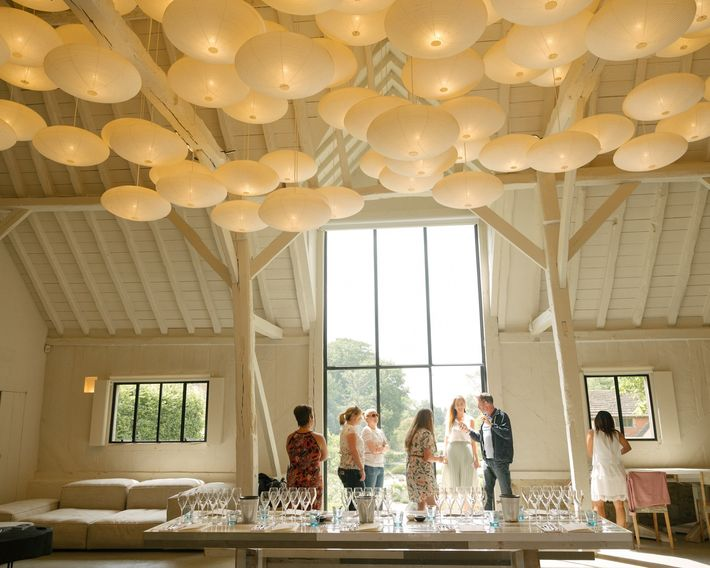 Nyetimber estate, one of England's largest wineries, offers wine tasting tours.