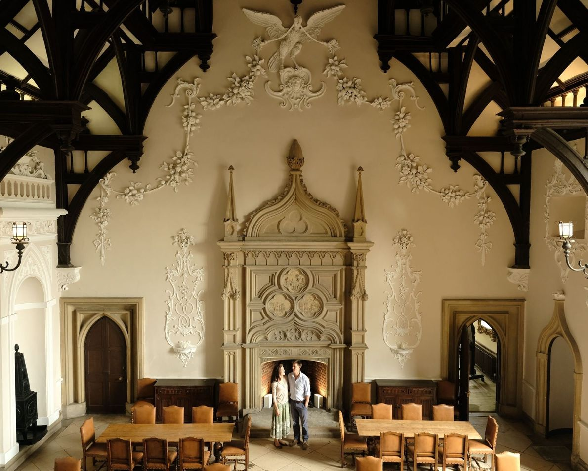 Richard and Kirsty Goring give a tour of the family manor, built in 1573 by Thomas ...