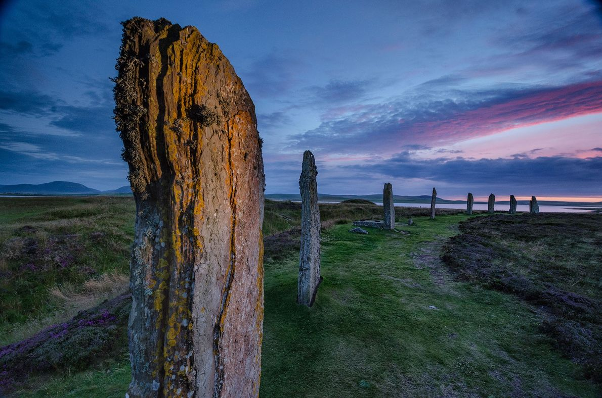 The Ring of Brodgar, a Neolithic henge monument in the Orkney Islands.