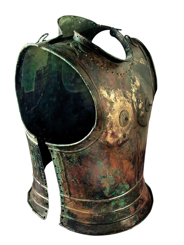 Bronze cuirass Hallstatt culture, CA 600 B.C., Slovenia.