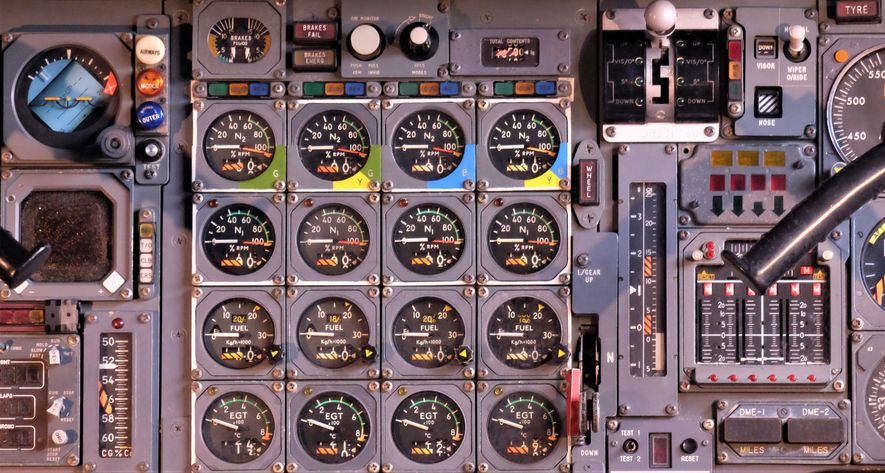The old-school controls of Concorde betrayed the heritage of the aircraft's futuristic design.