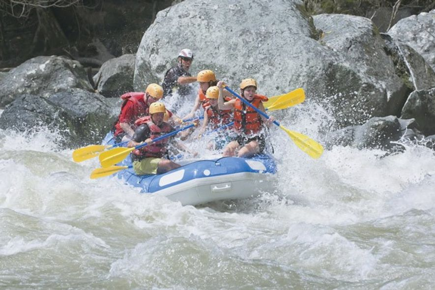 White water rafting, Pacuare River. Image: Getty