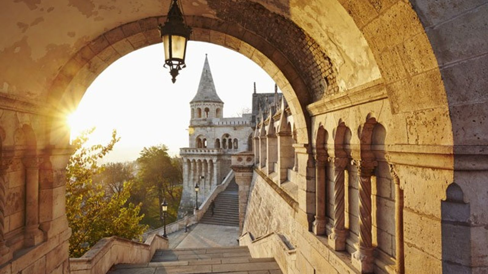 Fisherman's Bastion, a neo-Gothic folly overlooking Pest