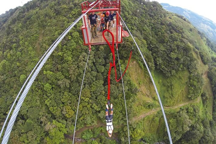 Monteverde Extremo Bungee Jump, Costa Rica. Image: Monteverde Extremo Bungee