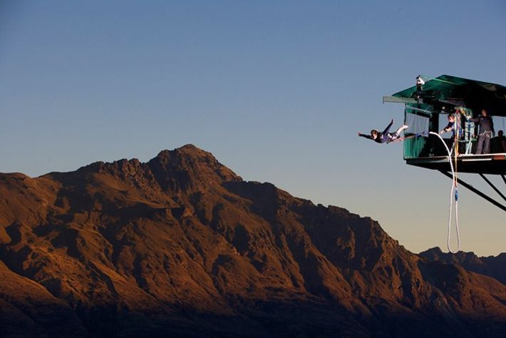 The Ledge Bungee Jump, New Zealand. Image: AJ Hackett