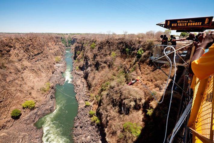 Victoria Falls Bridge Bungee Jump, Zimbabwe/Zambia. Image: Alamy