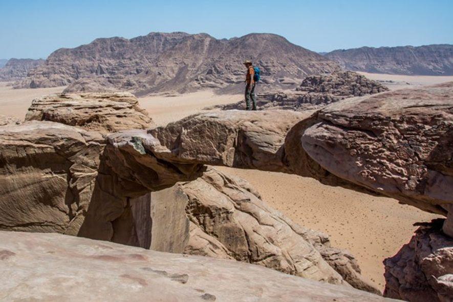 Burdah Rock Bridge, Wadi Rum.