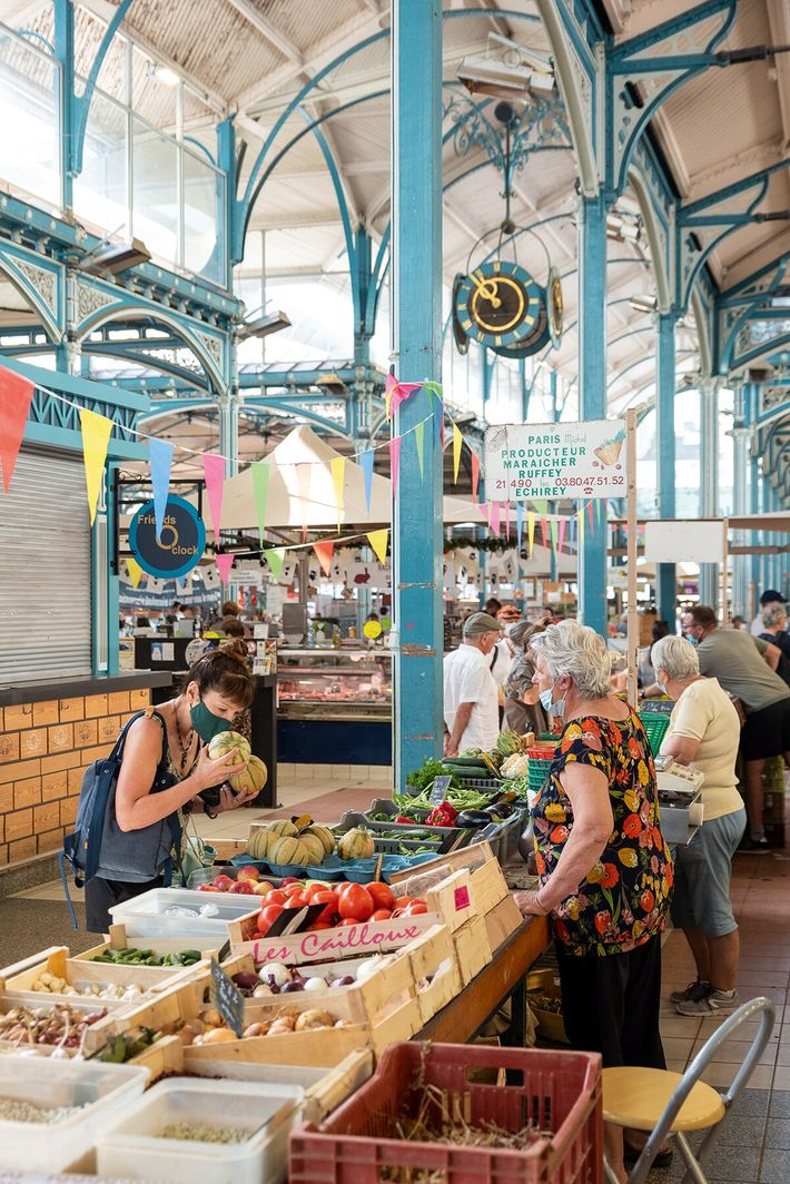 Les Halles Market in Dijon, designed by Gustave Eiffel in the 19th century.
