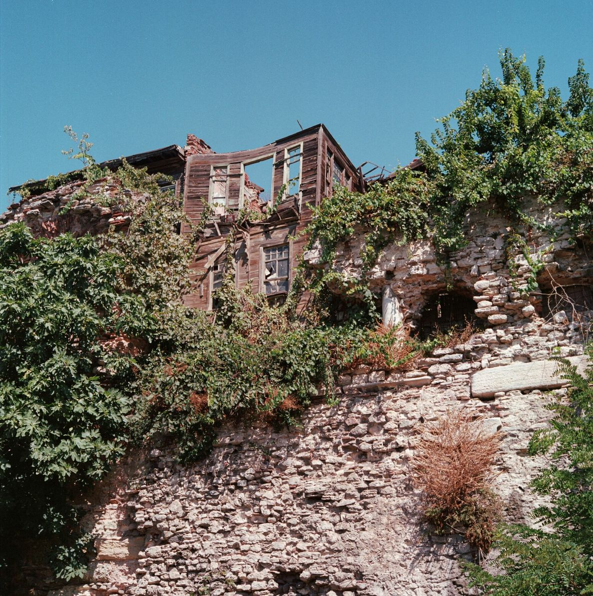 The scant, crumbling remains of the Byzantine Palace of Boukoleon are embedded in the city walls ...