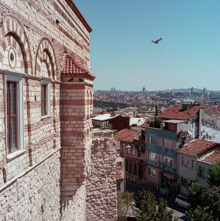 A view from the Byzantine-era Palace of Porphyrogenitus (known in Turkish as the Tekfur Sarayı). Its ...