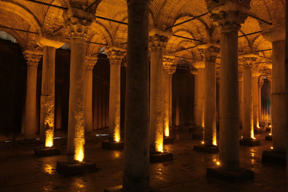 The Basilica Cistern, part of the city's Byzantine water system, is now a popular tourist destination ...