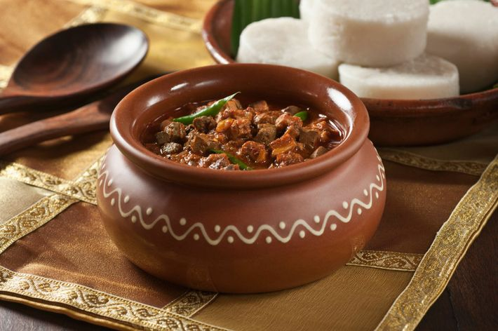 An important part of Goa's Christmas Eve celebrations is sorpotel, a spicy stew.