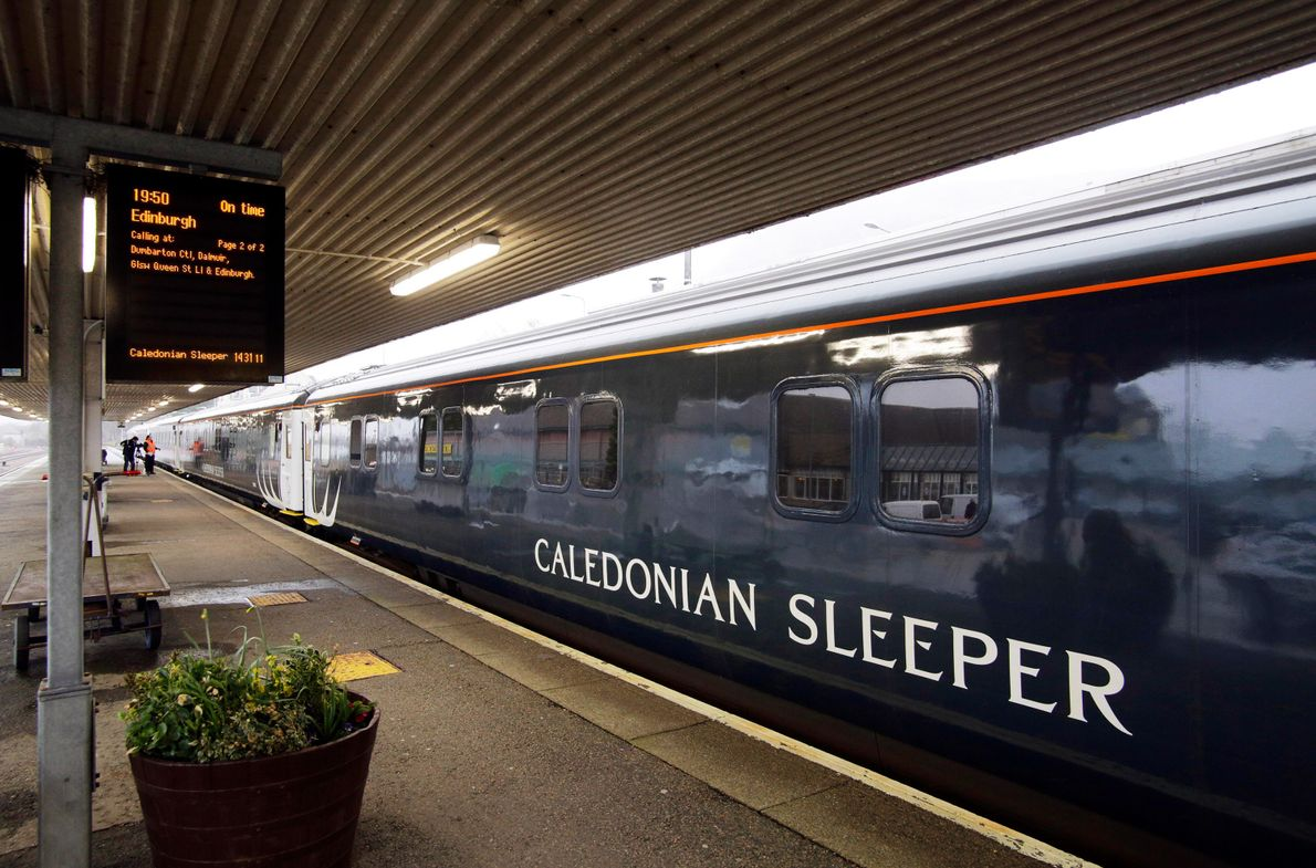 Depart from London in the evening on the Caledonian Sleeper in the dining car, adjourn to ...