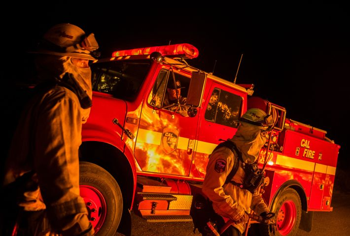 As infernos raged across the state, firefighters—and their resources—were spread thin. This crew was fighting the ...