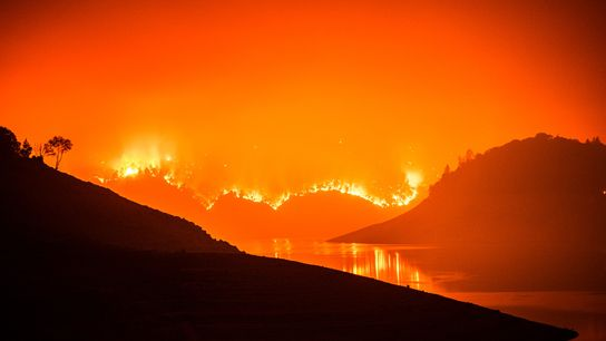 The Bear Fire burns near Oroville and the Plumas National Forest in California on Sept. 9, ...
