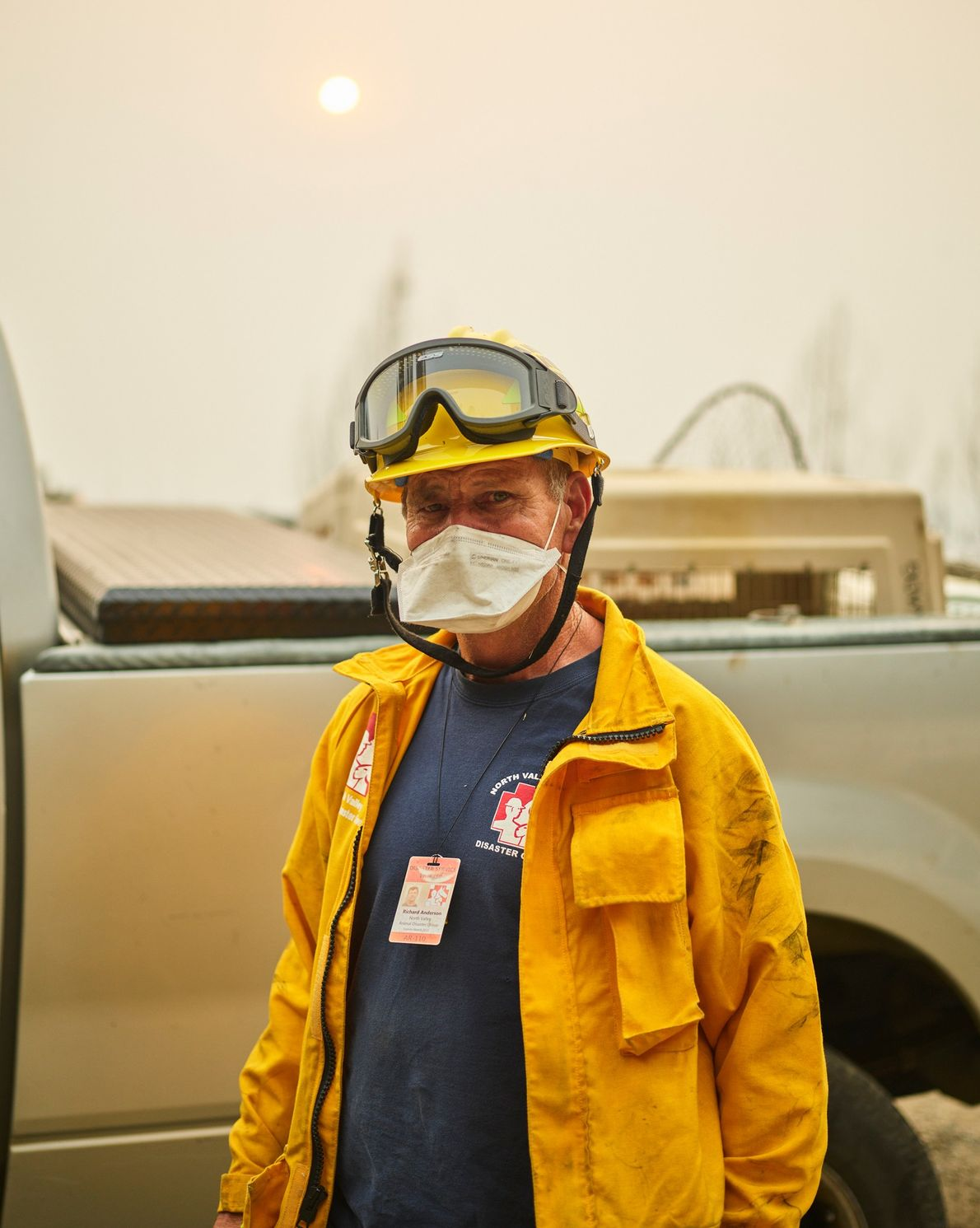 Rick Anderson, a retired firefighter, volunteers for the North Valley Animal Disaster Group, which rescued animals ...