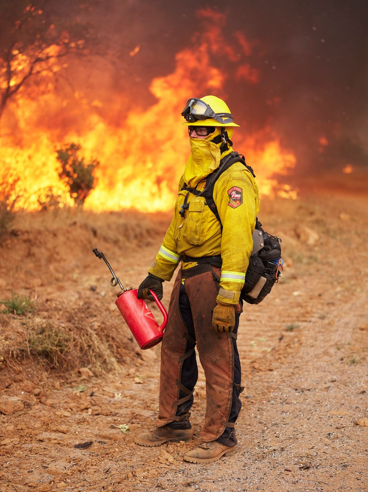 Firefighters sometimes burn off excess fuel in a controlled way to keep it from fueling a ...