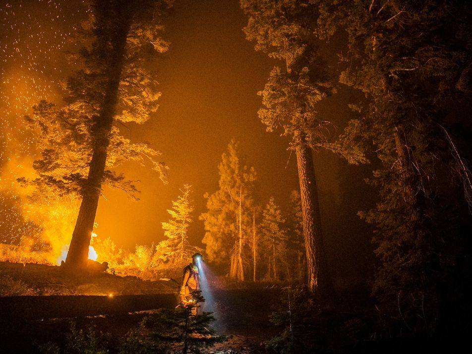 Witness California's record blazes through the eyes of frontline firefighters