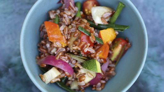 How to make it: Armand Arnal's Thai-style red rice with vegetables recipe