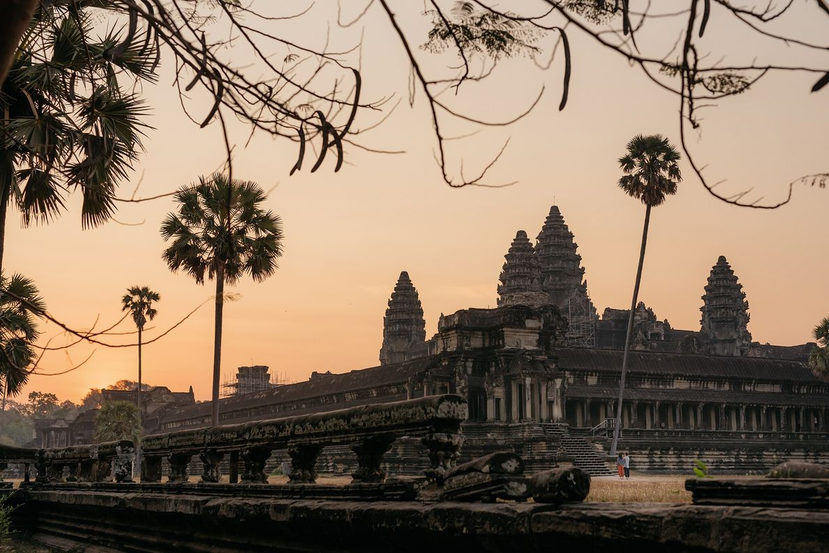One of the most popular times to visit the Angkor temples is just ahead of sunrise or ...