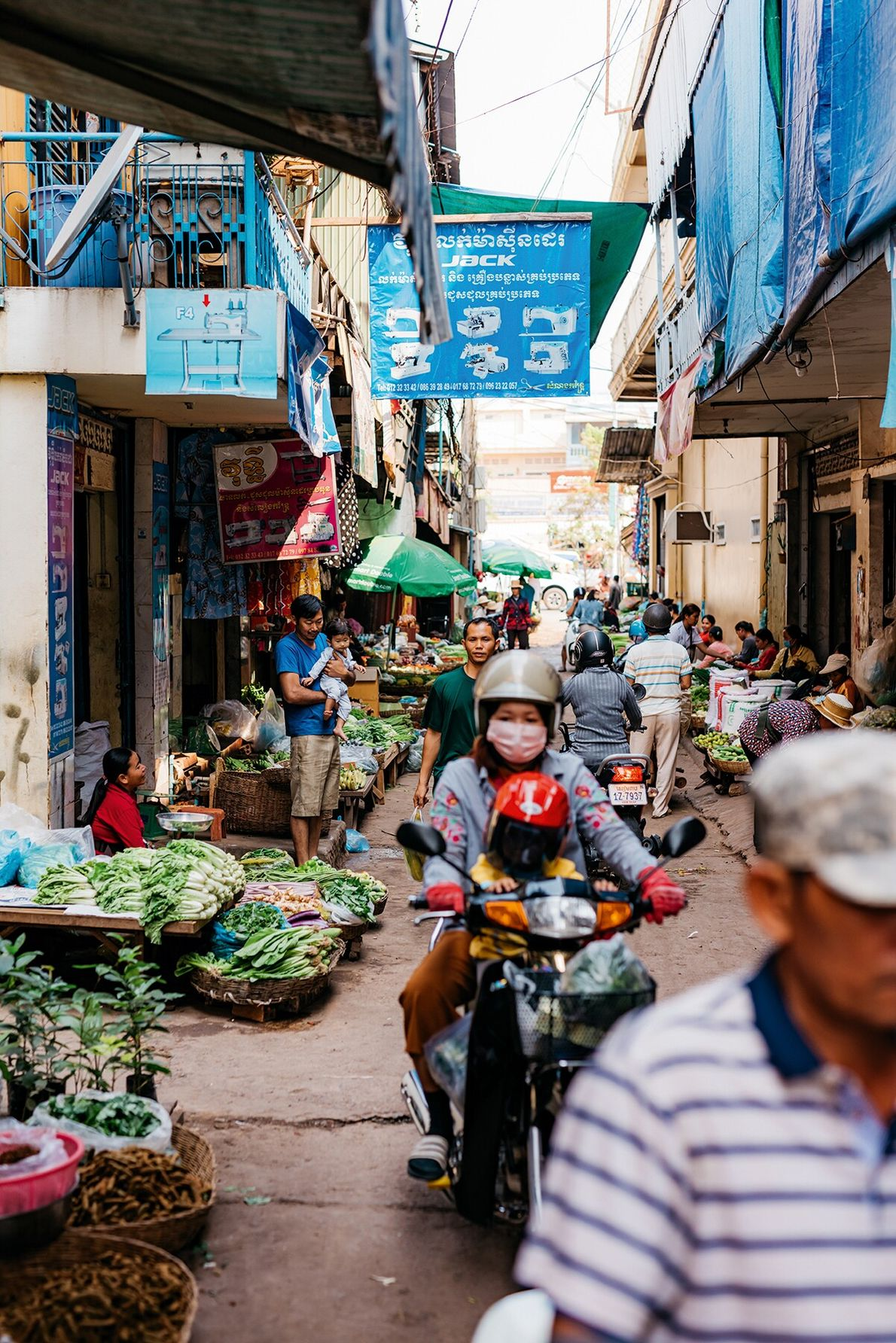 From the early morning onwards, Siem Reap's Central Market thrums with activity: a clash of vibrant ...