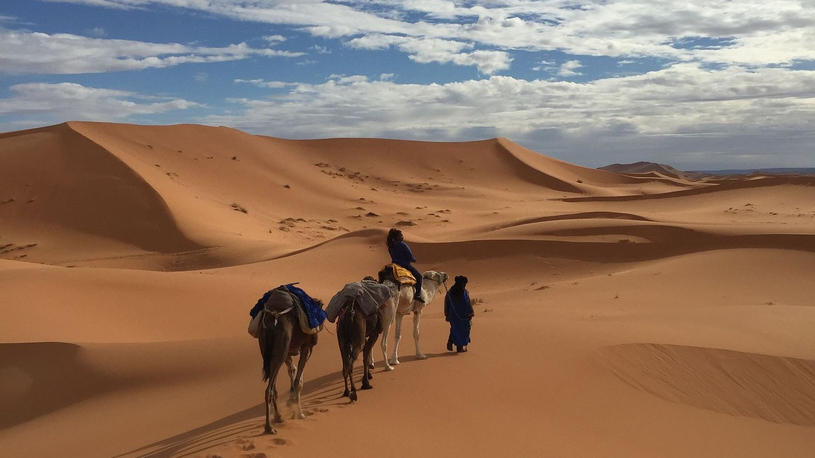 Alice Morrison trekking through Morocco