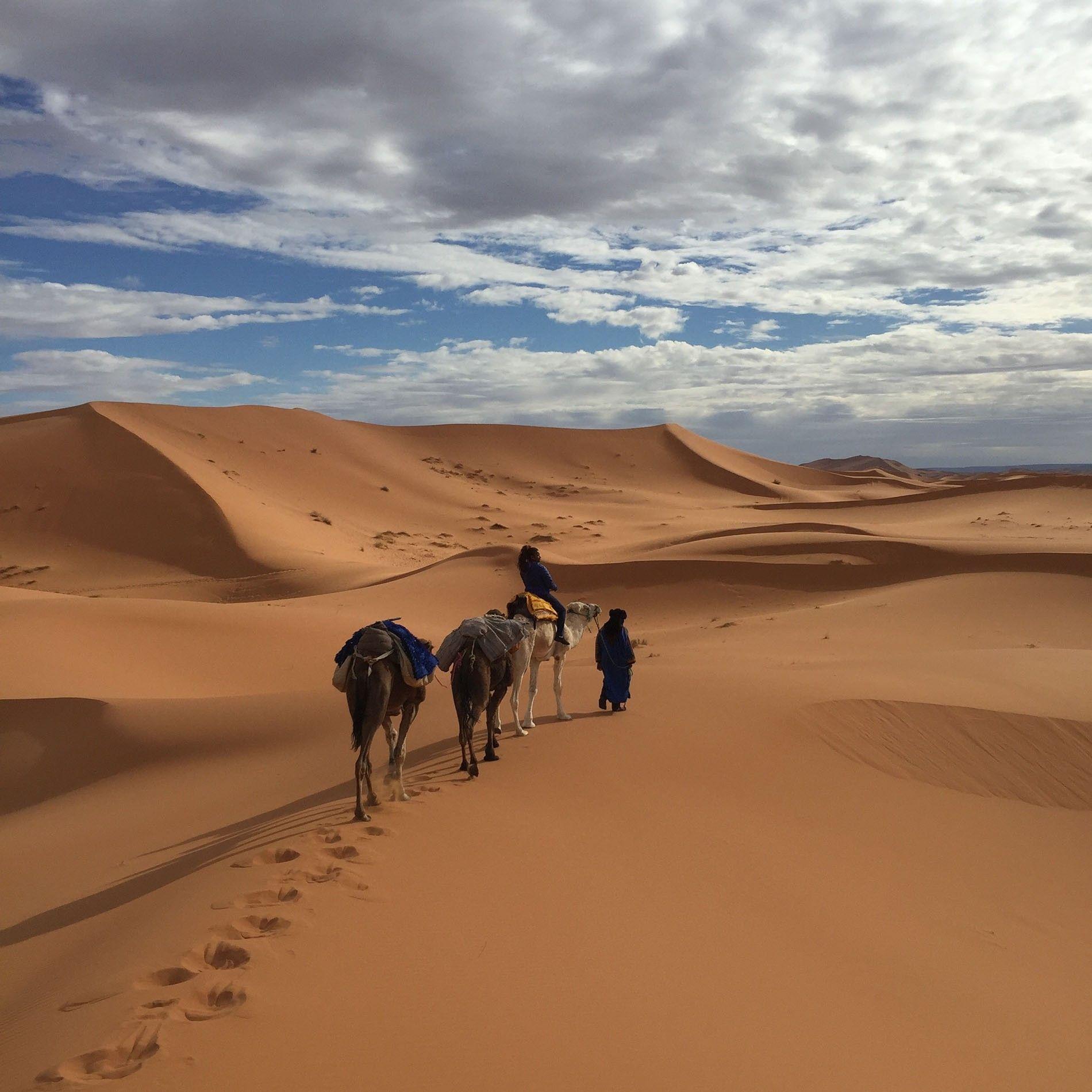 Alice Morrison trekking through Morocco
