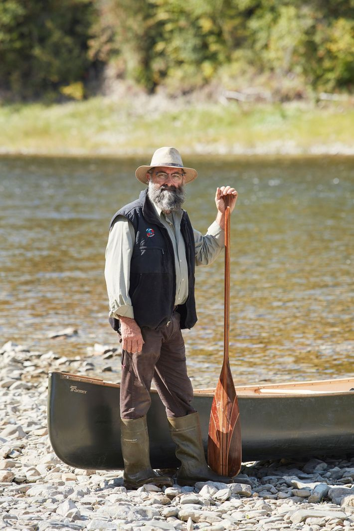 Andre Arpin, a legend of the Restigouche, a canoe maker and the first person to set ...