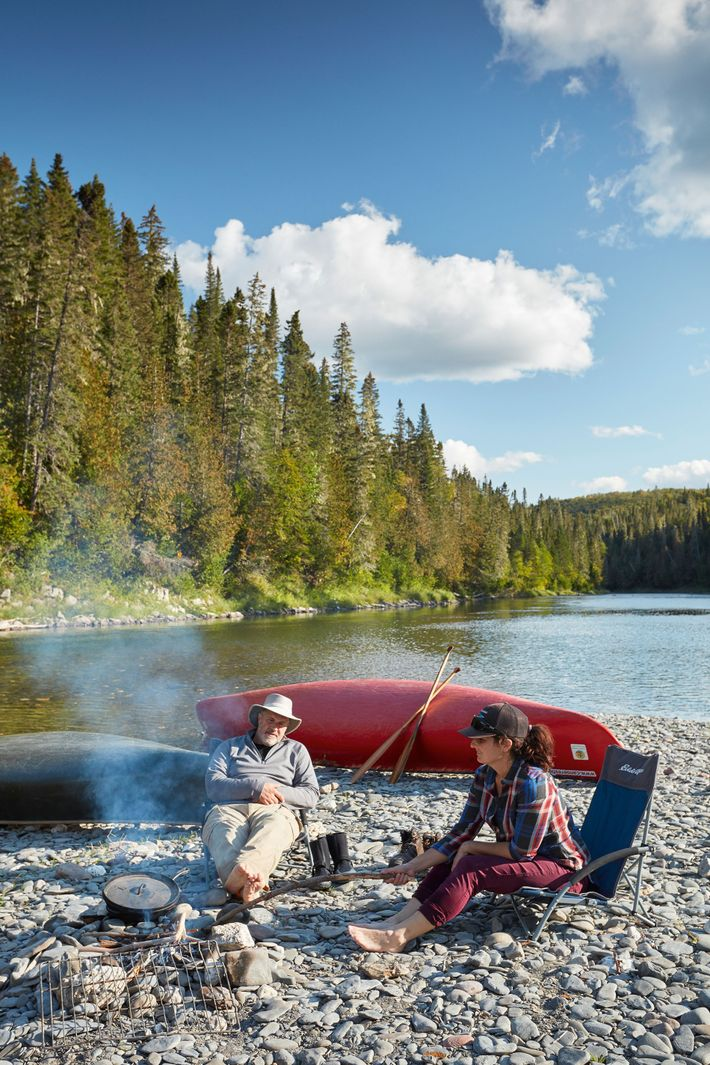 A camping trip along the Kedgwick, the main tributary of the Restigouche River, led by Marie-Christine ...
