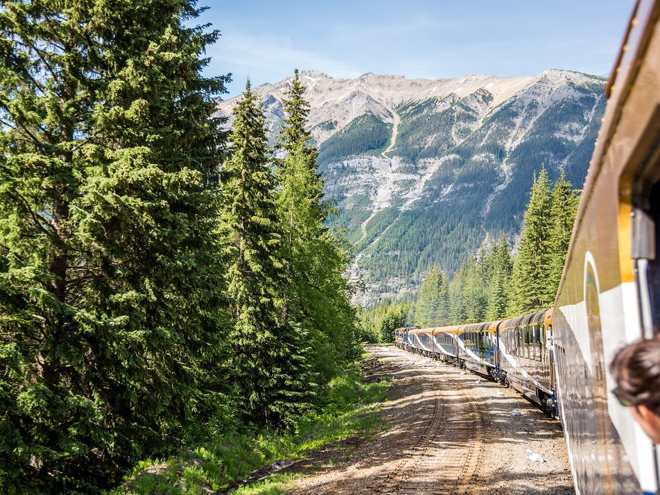 Ride the rails through the Rocky Mountains, from Vancouver to Banff