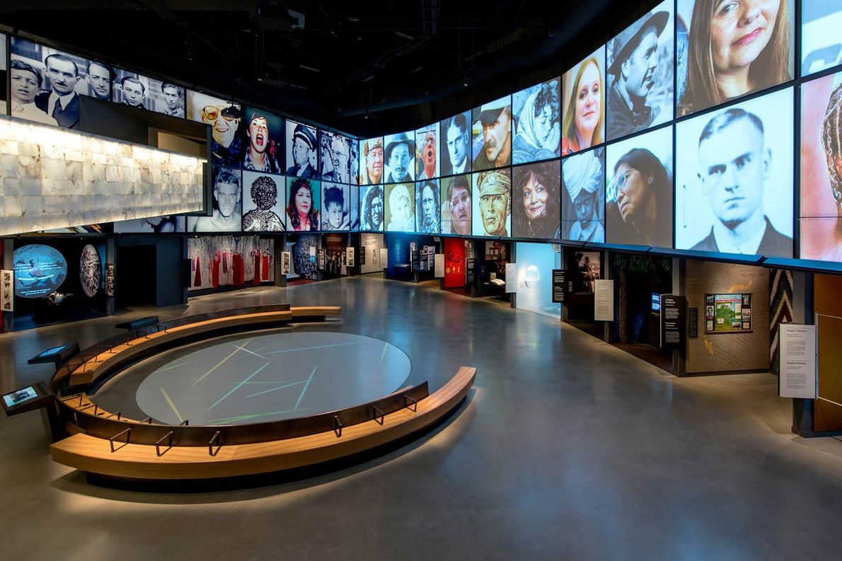 Canadian Journeys Gallery is one of 10 galleries featured at the Canadian Museum for Human Rights.