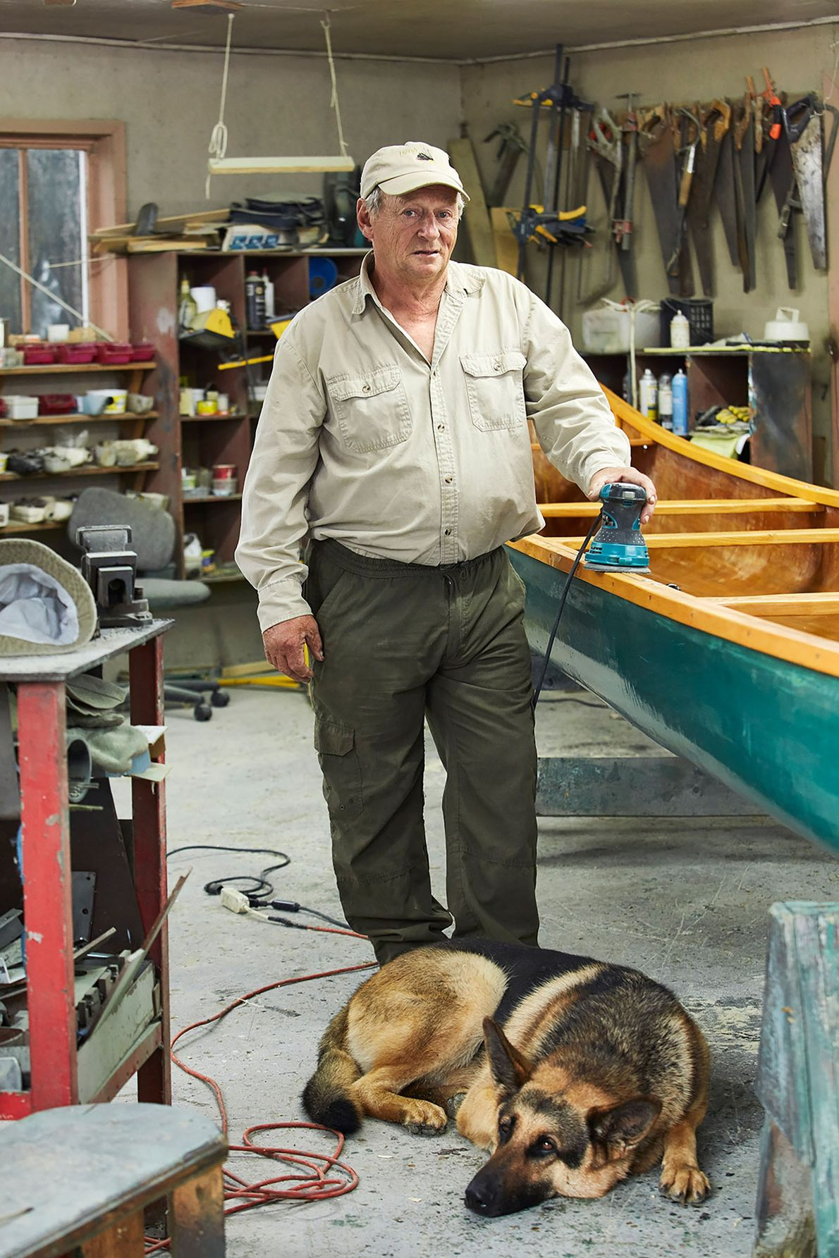 A portrait of Gilles St-Laurent and his dog Chico. Gilles has spent more than 50 years ...