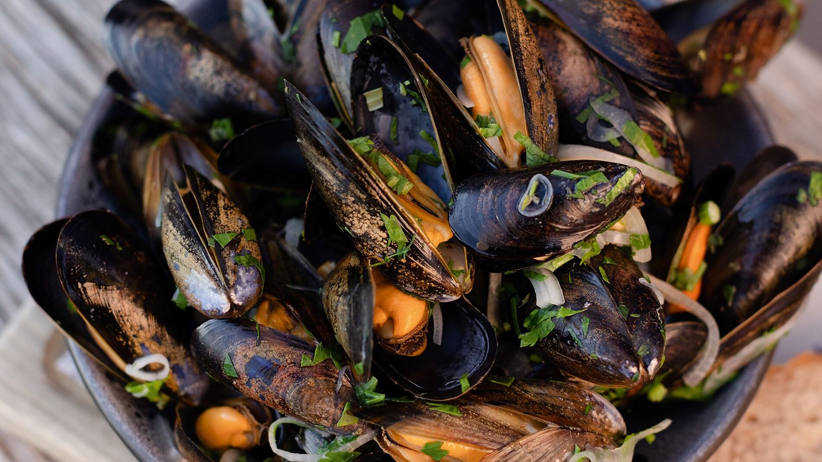 Mussels at the Harbourmaster Hotel. Built around 1812, it once enabled the harbourmaster to keep a ...