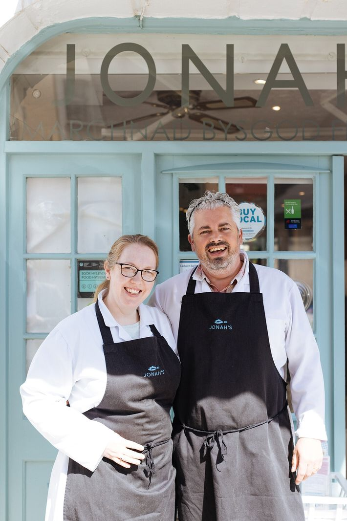 Craig and Rhiannon Edwards, owners of Jonah's Fishmarket.