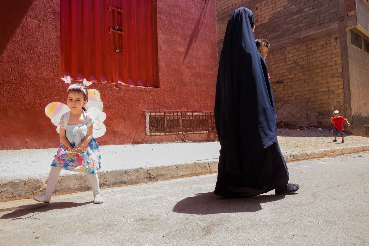 Young and old mingle in Moulay Rachid, a suburb of the city.